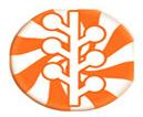 橙色糖果棒图标