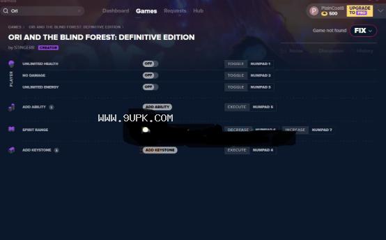 奥日与黑暗森林终极版六项修改器