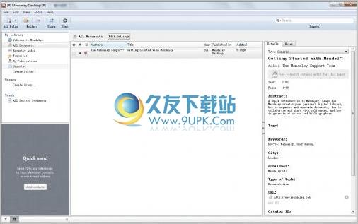 Mendeley Desktop 1.8英文版[文献资料管理器]