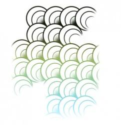 漂亮的手繪魚鱗photoshop筆刷插件 1.0綠色版